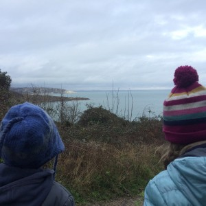 Girl & Boy one enjoying the view at Durlston