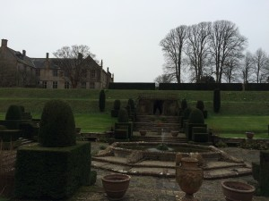 Formal garden at Mapperton