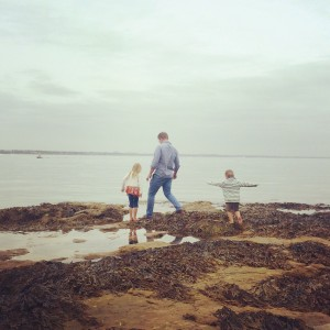 Rock Pooling on Studland Beach